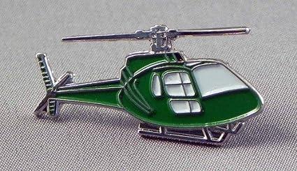 Metal Esmaltado Pin Badge Fly helicóptero Verde