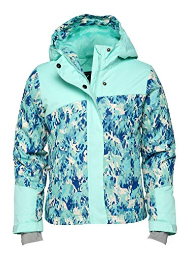 Arctix Girls Suncatcher Insulated Winter Jacket, Island Azure, Large