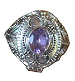 Handmade Bali US Size 9 Poison Box Amethyst 925 Sterling Silver Ring