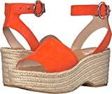 Dolce Vita Women's Lesly Espadrille Wedge Sandal, Orange Suede, 8.5 M US