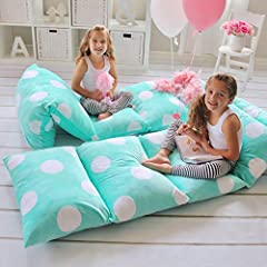 This easy care cover comes in 4 fun colors: green, hot pink, light pink and purple, all with sassy, white polka-dots! Our delightfully soft, plush pillow cover comes in 2 different sizes: small, for younger kids and large, for bigger kids, te...