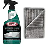 Weiman Granite Cleaner and Polish - 24 Fluid Ounces - Enhances Natural Color in Granite, Quartz, Stone, and Marble
