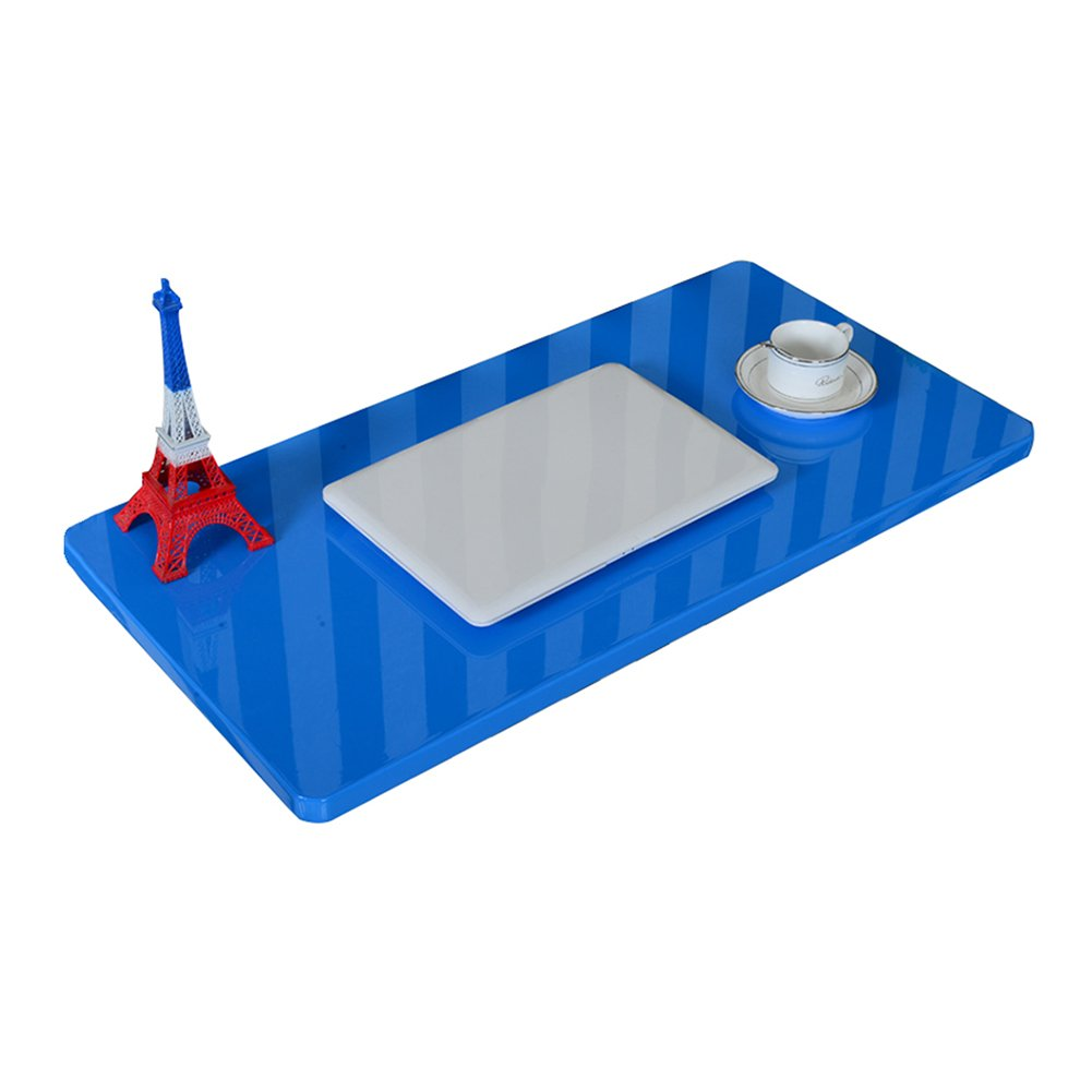 LXLA- Escritorio de Pared Plegable Mesa de Estudio de Pared Estación de Trabajo de computadora para niños Organizador de Cocina Dinding Pintura de Piano Azul (Tamaño : 60times;50cm)