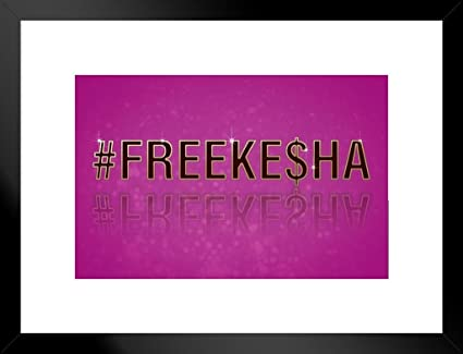 Amazon com: Poster Foundry Free Kesha FreeKesha Music Matted