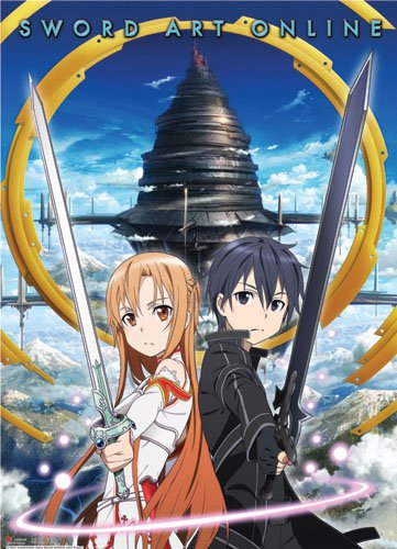 Great Eastern Entertainment Sword Art Online Kirito and Asuna Wall Scroll