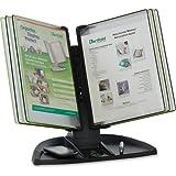 TFITDBL291 - Tarifold Black Line Desk Set, Black/Green Pockets