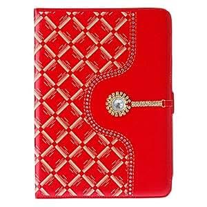 Bling Diamantes caja del cuero del folio con el soporte para el iPad Aire , Rojo