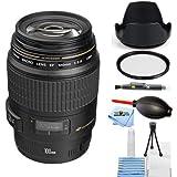 Canon EF 100mm f/2.8 USM Macro Autofocus Lens #4657A006 [International Version] (Starter Bundle)