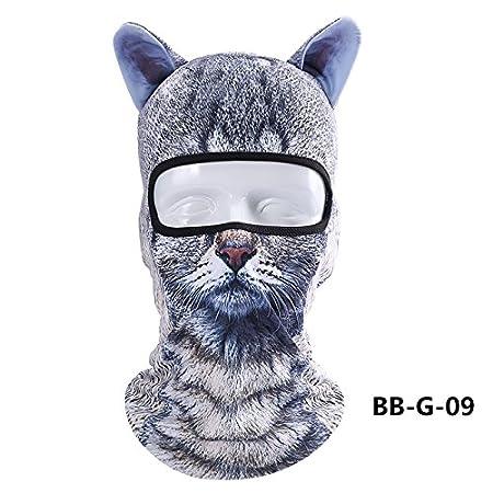 ChunTian Sturmhaube / Maske / Gesichtsschutz Unisex, 3D-Design Tier, Vollmaske, UV-Schutz, atmungsaktiv, multifunktional, fü r Outdoor / Motorrad / Radfahren / Camping / Wandern / Sport, winddicht, Staubschutz