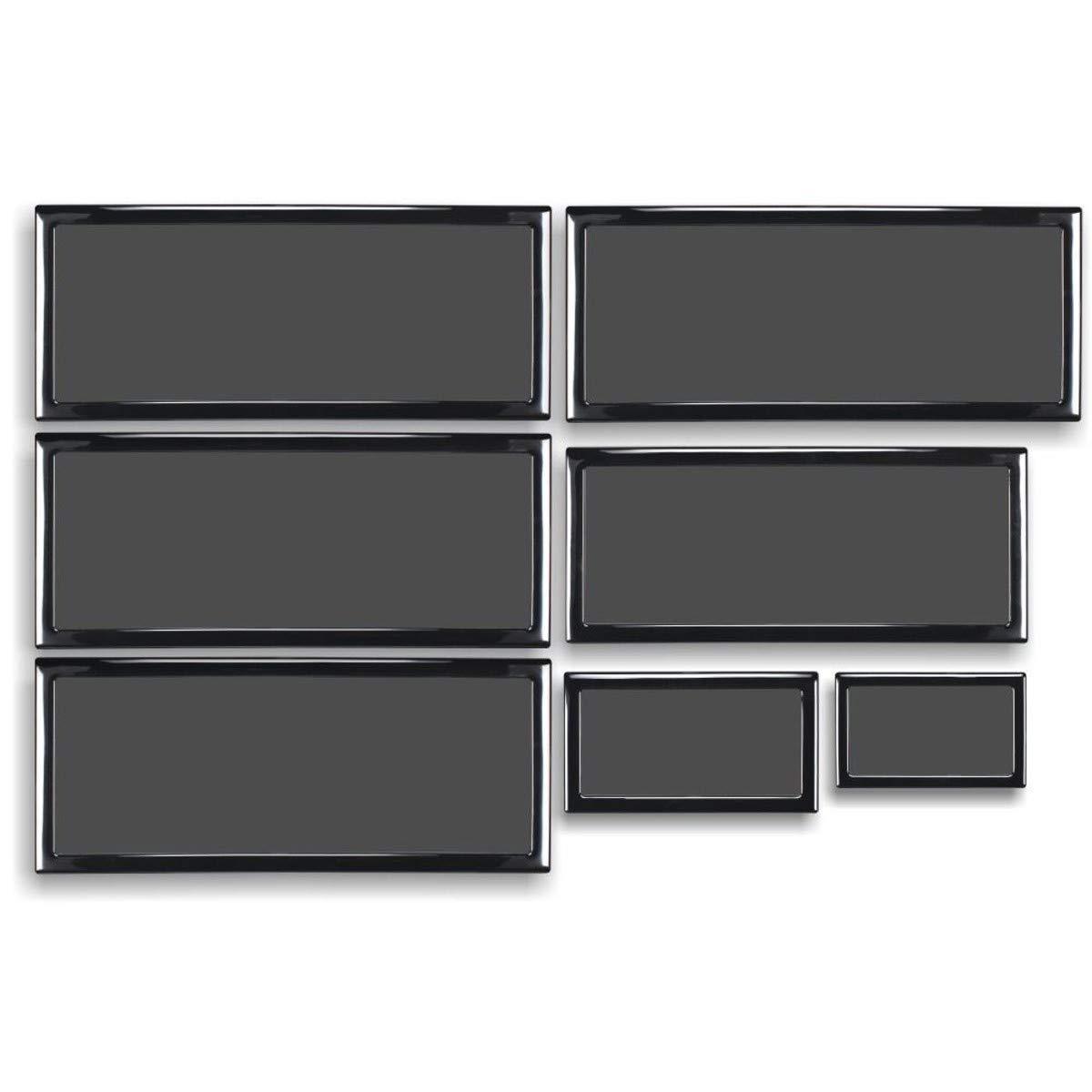 DEMCiflex Dust Filter Kit for Lian-Li PC 011 Case, Black Frame/Black Mesh