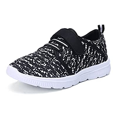 QOUJEILY Kids Tennis Shoes Casual Walking Shoes Lightweight Breathable Velcro Sneakers For Boys Girls
