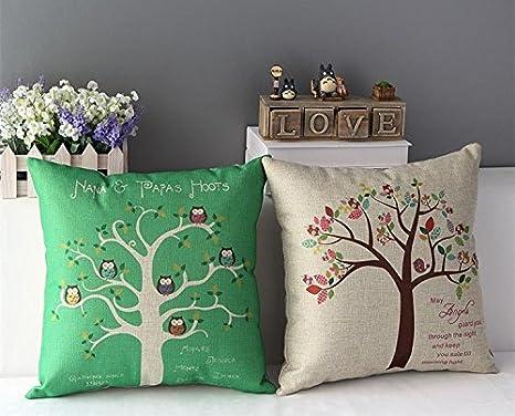 2 piezas almohadas decorar y gruesos lino funda para cojín ...