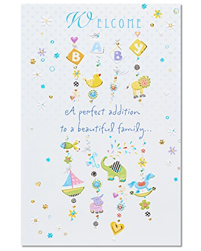 American Greetings Perfect Addition New Baby Congratulations Greeting Card with Foil ()