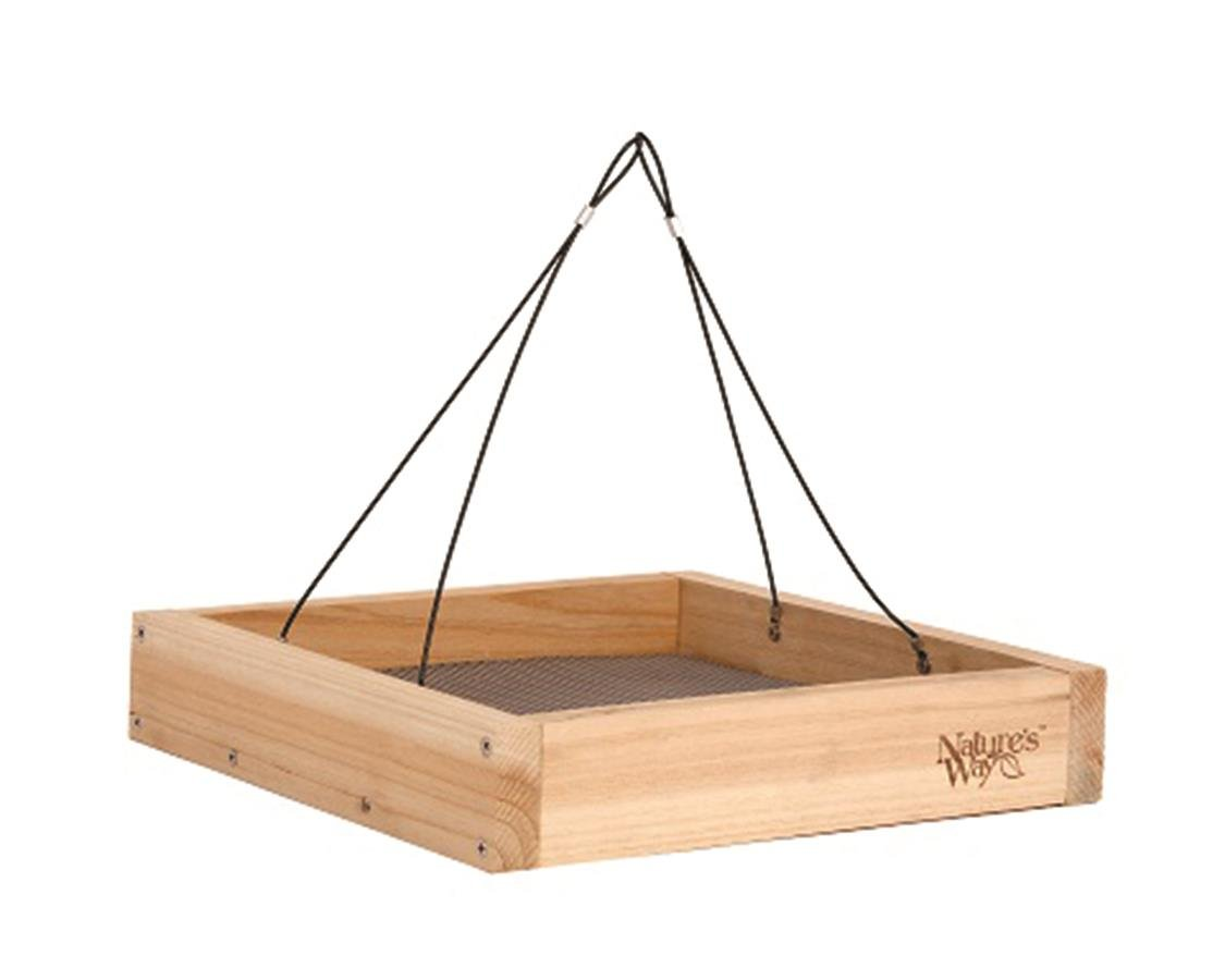 Nature's Way Bird Products CWF3 Cedar Platform Tray Bird Feeder