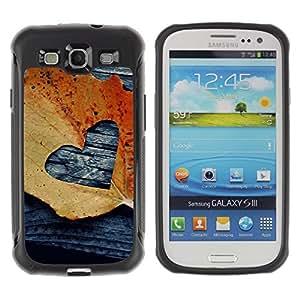 """Pulsar iFace Series Tpu silicona Carcasa Funda Case para Samsung Galaxy S3 III I9300 , Hoja Otoño Negro Amor deeo"""""""