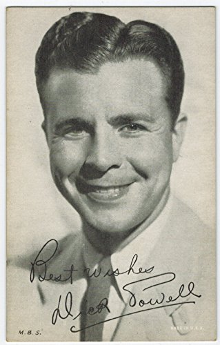 Exhibit Dick Powell Arcade Card: BW 1940s (13mm MADE IN U.S.A.) Series