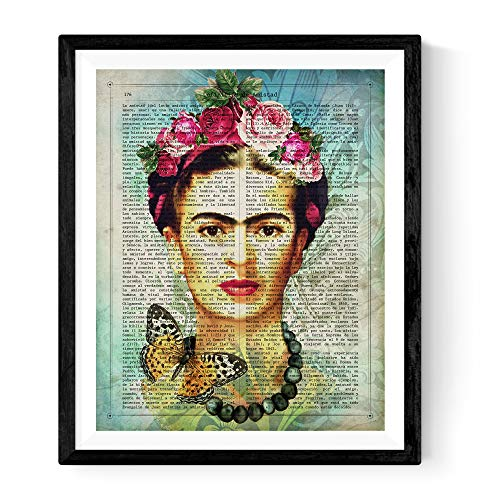 Frida Kahlo Poster with The Definition of Friendship in Spanish. Print of The Mexican Painter Size 11''x17'' (Best Definition Of Friendship)