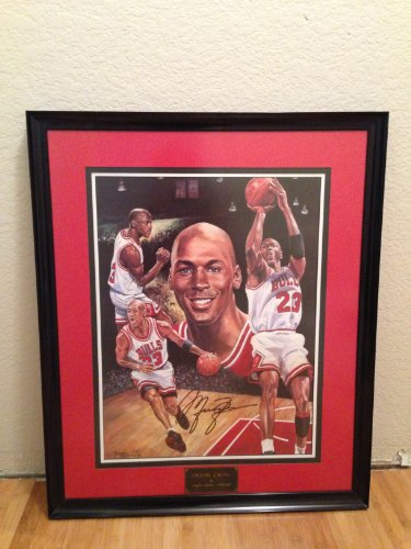 Michael Jordan Autographed Lithograph By Angelo Marino ...