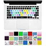 """DHZ Unique Ultra Thin Durable Keyboard Cover Silicone Skin for MacBook Pro 13"""" 15"""" 17"""" (with or w/out Retina Display) iMac Apple Wireless Keyboard and MacBook Air 13"""" (Illustrator AI Shortcut keys Black)"""