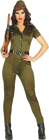 Mono militar de tamaño de disfraz de mujer soldado M: Amazon.es ...