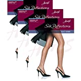 Hanes Womens Set of 3 Silk Reflections Control Top Sheer Toe Pantyhose CD, Little Color
