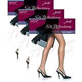 Hanes Womens Set of 3 Silk Reflections Control Top Sheer Toe Pantyhose