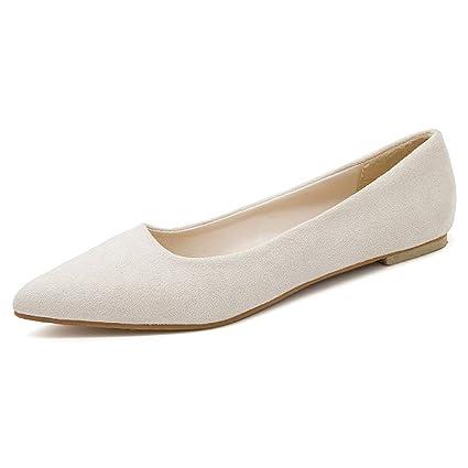 ec8e80f4f0660 Amazon.com: Women Flats Shoes Pointed Toe Shallow Ballet Pumps Slip ...