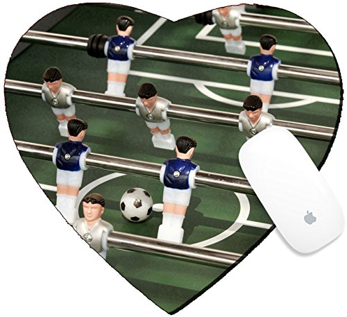 Luxlady Mousepad Heart Shaped Mouse Pads/Mat design IMAGE ID: 34580192 Foosball table or table soccer and players
