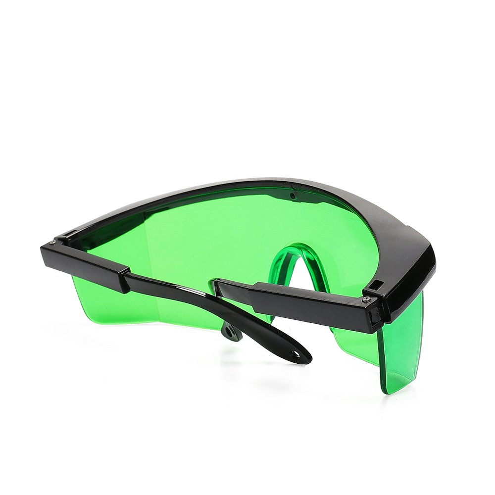 Green Laser Enhancement Glasses Cross /& Multi Line and Rotary Lasers with Anti Lost Function and Free Hard Protective Case Levelsure Huepar GL01G Adjustable Eye Protection Safety Glasses for Green Alignment