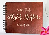 "Wooden Rustic Guest Book 11"" x 8.5"" : Made in USA"