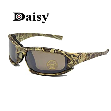 EnzoDate Daisy X7 polarizado ejército Gafas de Sol, Gafas Militares 4 Lente Kit, Hombres Juego de Guerra táctica Gafas al Aire Libre