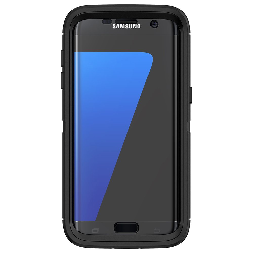 OtterBox Defender Series Case for Samsung Galaxy S7 Edge - Retail Packaging - Black