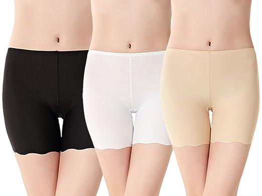 afc79525ff373c Imixcity 2 Pack Women's Ice Silk Safety Shorts Invisible Seamless Boxer  Briefs Underwear Boyshort (UK