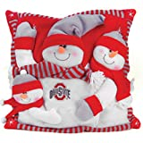 Team Sports America Ohio State Snowman Pillow