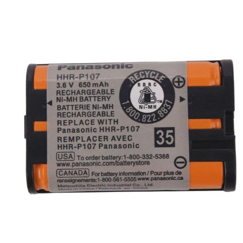 Original Panasonic Ni-MH Rechargeable Cordless Phone Battery (HHR-P107A/1B) (Not Generic) by Panasonic