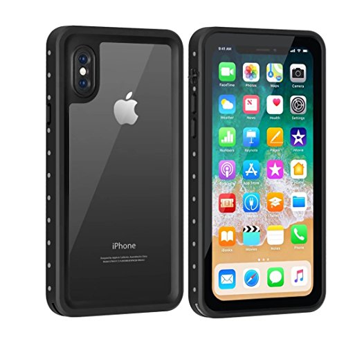 Price comparison product image YMCCOOL iPhone X Waterproof Case Full Body Protective Rugged Case Shockproof/Dirtproof/Snowproof IP68 Certified with Built in Screen Protector Waterproof Case for iPhone X 5.8 Inches