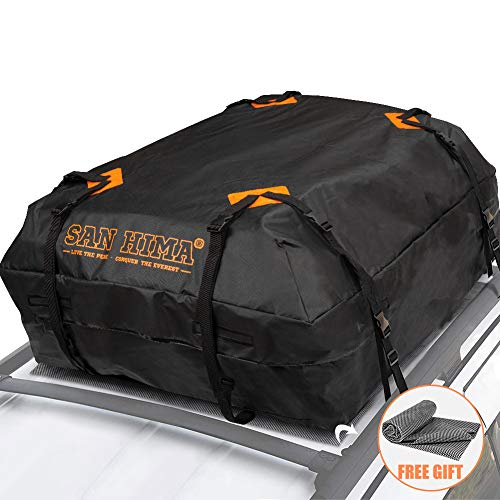 (Rooftop Cargo Bag - (15 Cubic Feet) Heavy Duty Roof Bag - 100% Waterproof Excellent Quality Car Top Carrier Bag Fits All Cars with Rack - Roof Top Car Bag)