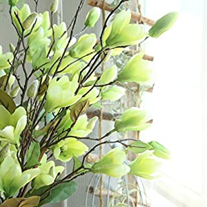 TiTCool Artificial Fake Flowers Leaf Magnolia 1 bunch 9 Heads NEW Wedding Bouquet Outdoor Party Home Decor 3