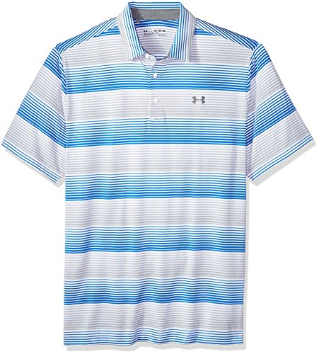 - Under Armour Men's Playoff Polo, White (120)/Overcast Gray, X-Large