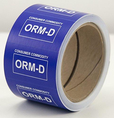 "Amram ORM-D Consumer Commodity Labels, 2.5"" x 1.55"", 500 per roll"