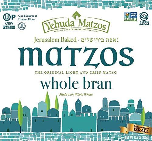 Yehuda Light Whole Wheat Bran Matzo 10.5oz (3 Pack) by Yehuda