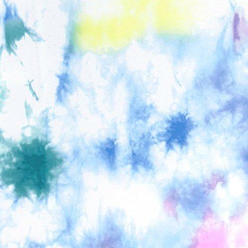 ICEPARDAL(アイスパーダル)全20色柄レディースラッシュガードパーカーIR-7200DYE-SAXWMサイズ長袖ラッシュパーカーUVカットUPF50+指穴つきおしゃれかわいい人気水着タイダイ柄青色ブルーホワイト白