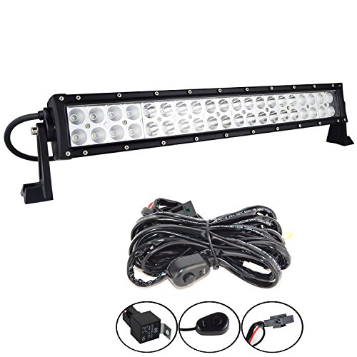 Willpower 22 in 24 inch 120W Spot Flood Combo LED Work Light Bar + Wiring Harness Kit for Truck Car ATV SUV 4X4 Jeep Truck Driving Lamp ()