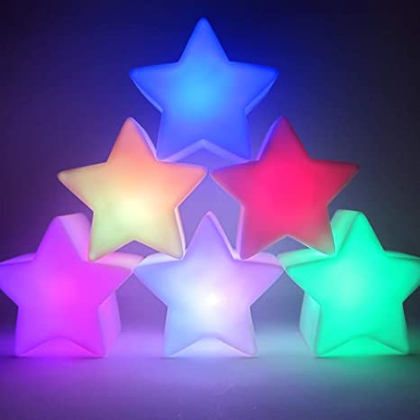 Brilliant Light Up Star Lamp Centerpieces Set Of 6 Battery Operated Led Star Lamps Centerpiece Light With 8 Color Modes Star Shape Download Free Architecture Designs Boapuretrmadebymaigaardcom