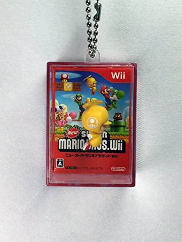 (Yellow Toad - New Super Mario Bros Wii Rittai Jacket Clear Box Swing Mascot)