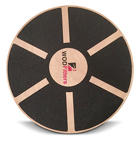 """WODFitters Balance Board Premium Wooden Wobble Board 16"""" Round Balance Trainer Fit Board / Exercise Board For Core Training Fitness Workouts, Physical Therapy & Rehabilitation w/ Carrying Bag"""