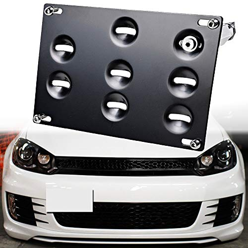 For Jetta 05-10 Front License Plate Bracket Black