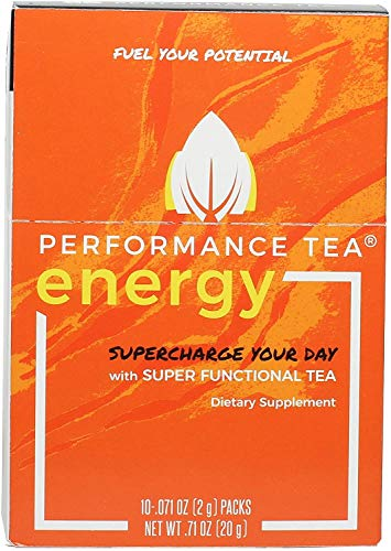ENERGY by Peformance Tea – Instant Coffee Alternative + Immunity Booster with No Sugar, No Crash & Low Caffeine…