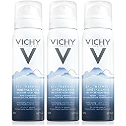 Vichy Mineralizing Thermal Water Face Mist Spray from French Volcanoes, 3-Pack, 1.69 Fl. Oz.
