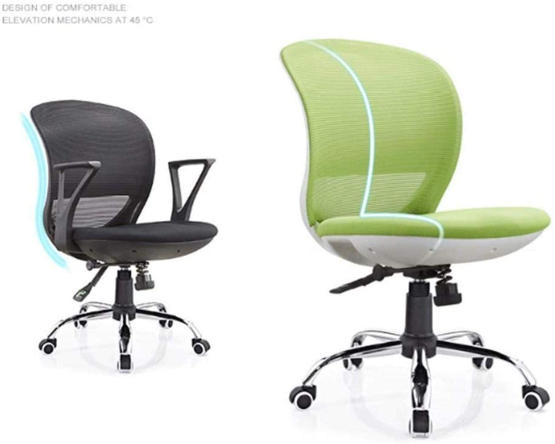 Skrivbordsstolar, ergonomisk kontorsstol svängbar stol nät datorstol roterande kontorsmöbler justerbar pall fåtölj (färg: Grön) gRÖN